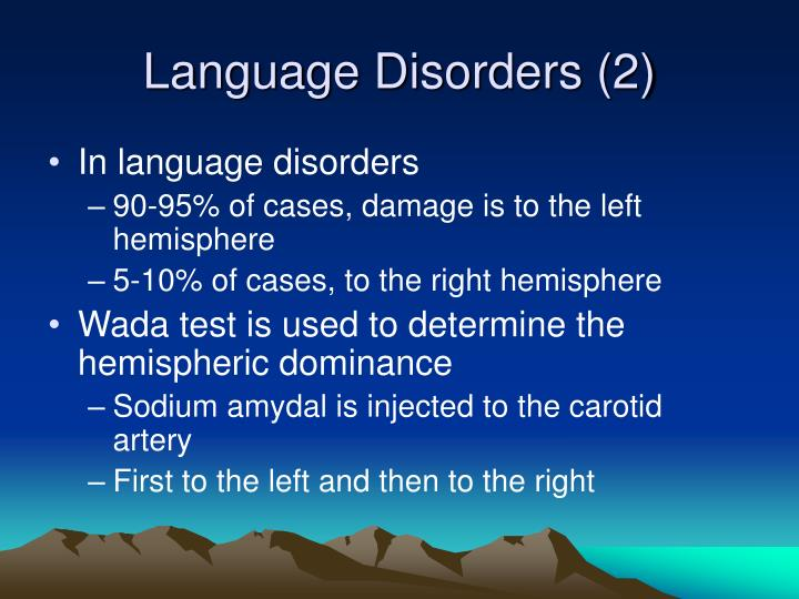 Language Disorders (2)