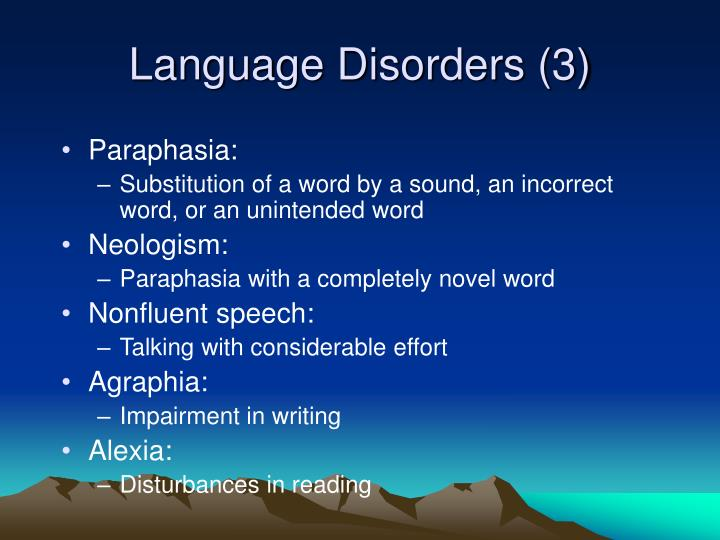 Language Disorders (3)