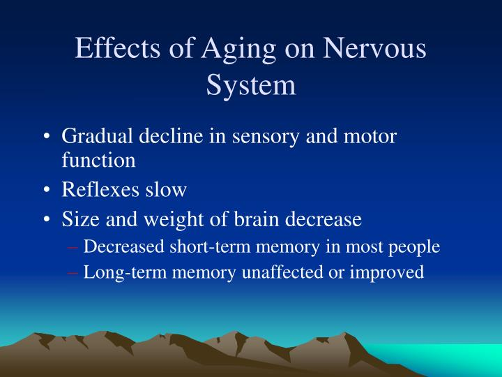 Effects of Aging on Nervous System