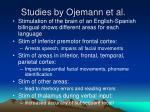 studies by ojemann et al