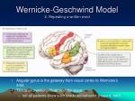 wernicke geschwind model 2 repeating a written word