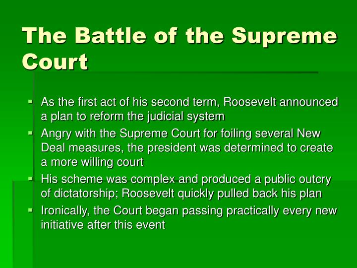 The Battle of the Supreme Court