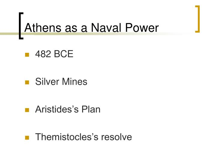Athens as a Naval Power