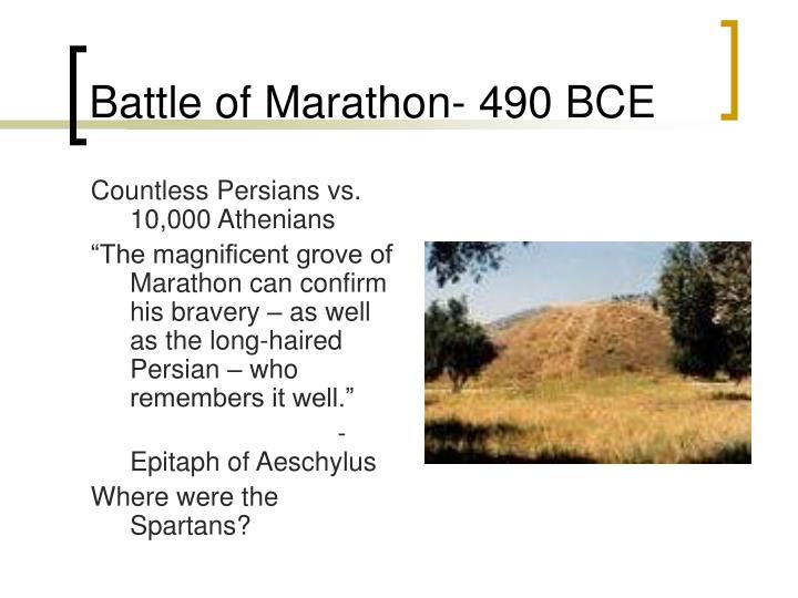 Battle of Marathon- 490 BCE