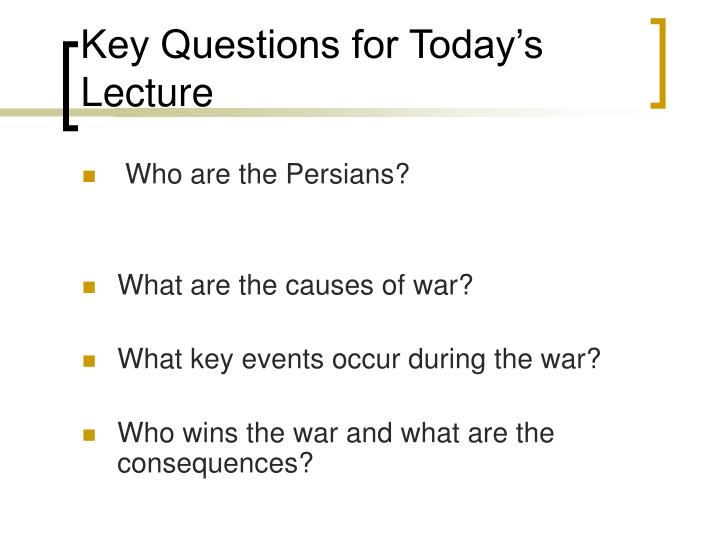 Key Questions for Today's Lecture