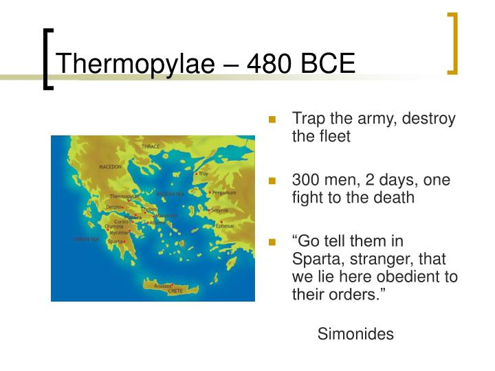 Thermopylae – 480 BCE