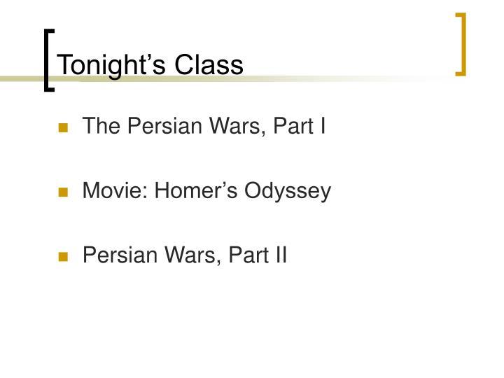Tonight's Class