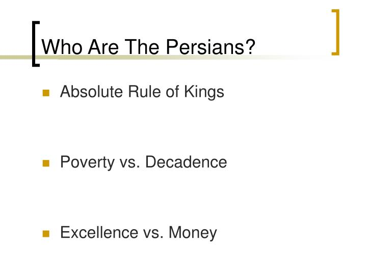 Who Are The Persians?