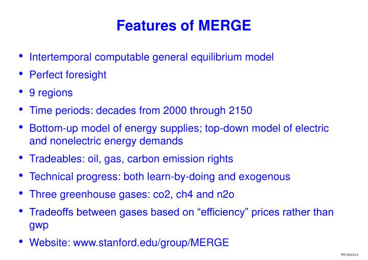 Features of merge