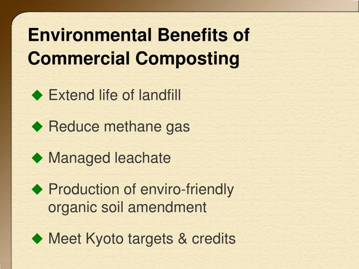 Environmental Benefits of Commercial Composting