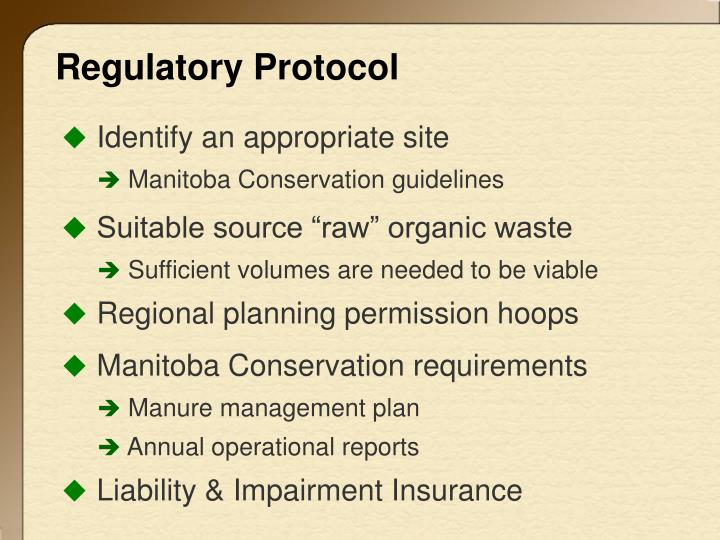 Regulatory Protocol
