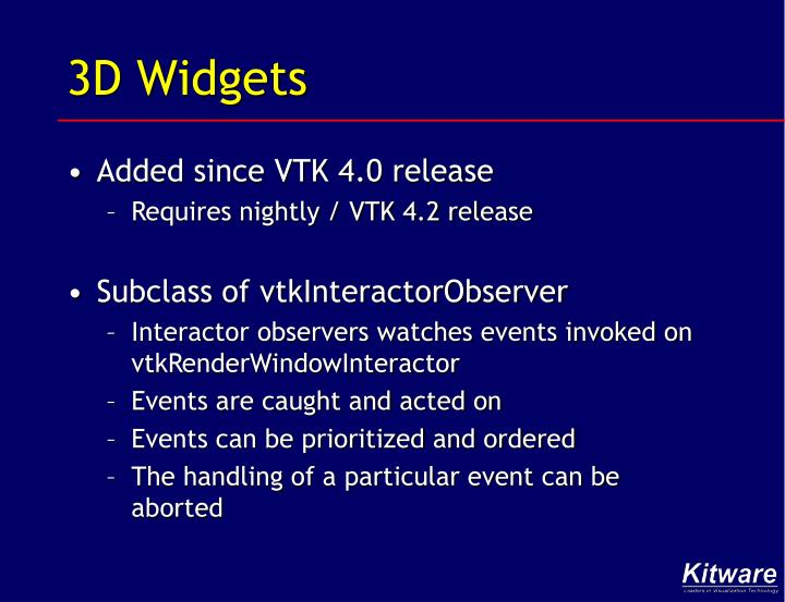 3D Widgets