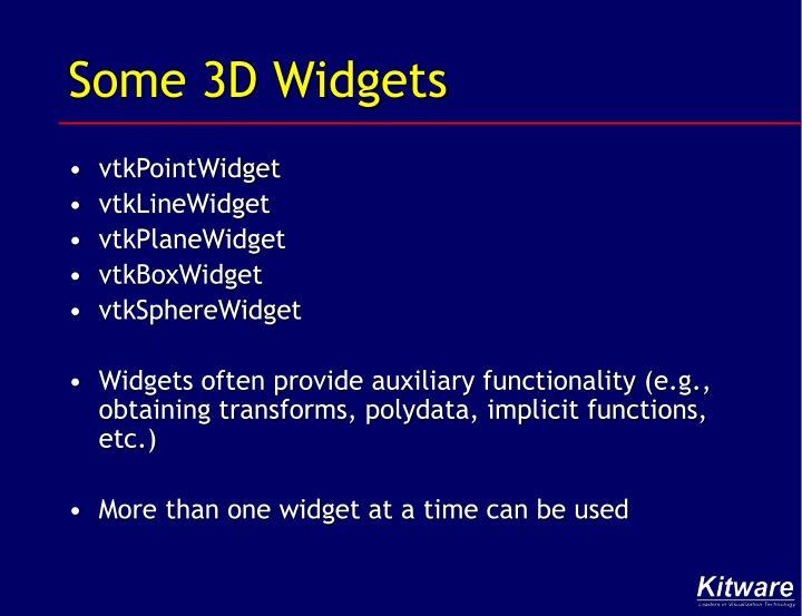 Some 3D Widgets