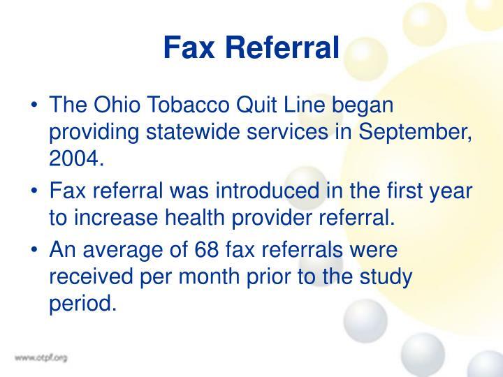 Fax Referral