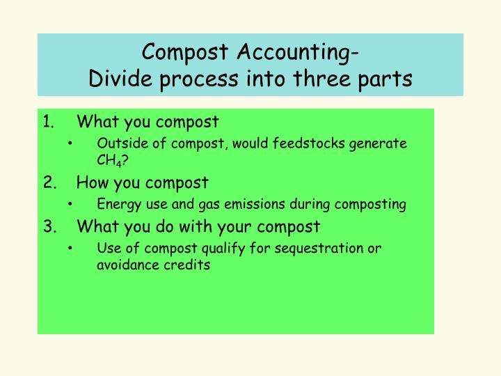 Compost Accounting-