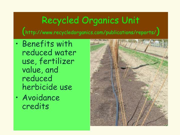 Recycled Organics Unit