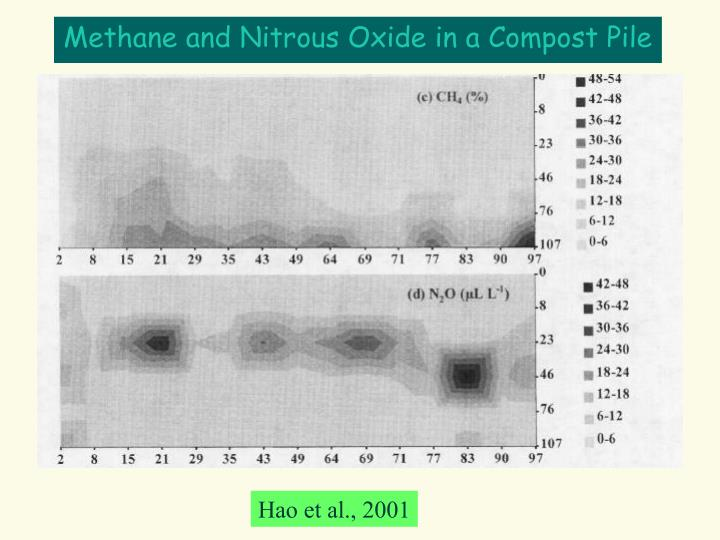 Methane and Nitrous Oxide in a Compost Pile