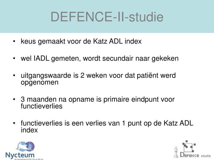DEFENCE-II-studie
