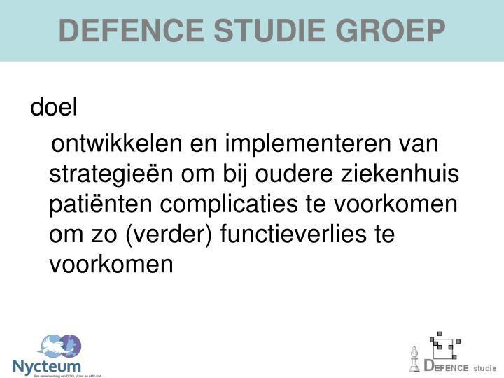 DEFENCE STUDIE GROEP