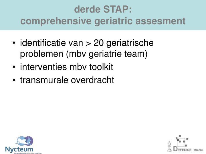 derde STAP: