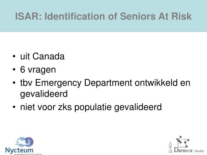 ISAR: Identification of Seniors At Risk
