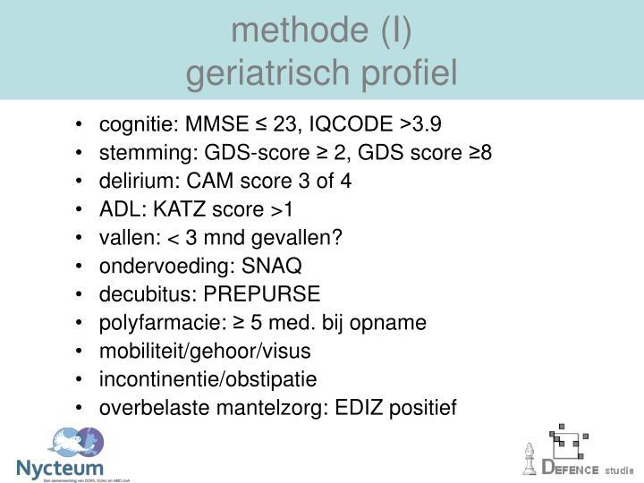 methode (I)