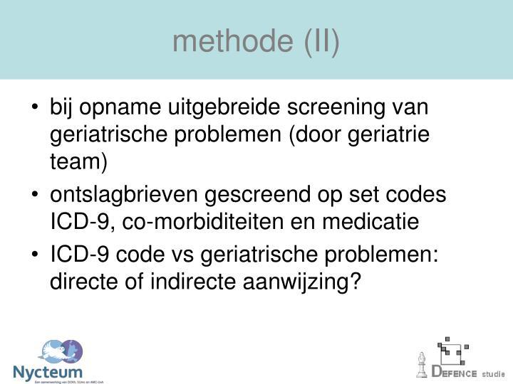 methode (II)