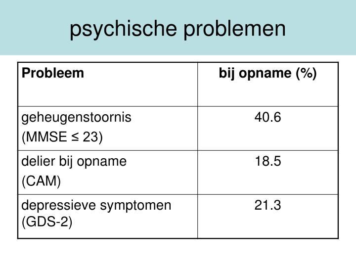 psychische problemen