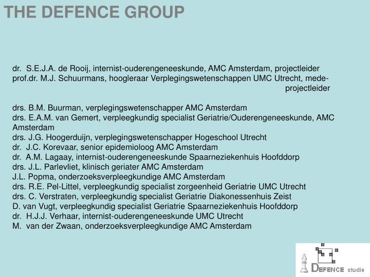 dr.  S.E.J.A. de Rooij, internist-ouderengeneeskunde, AMC Amsterdam, projectleider