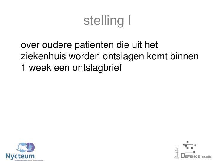 stelling I