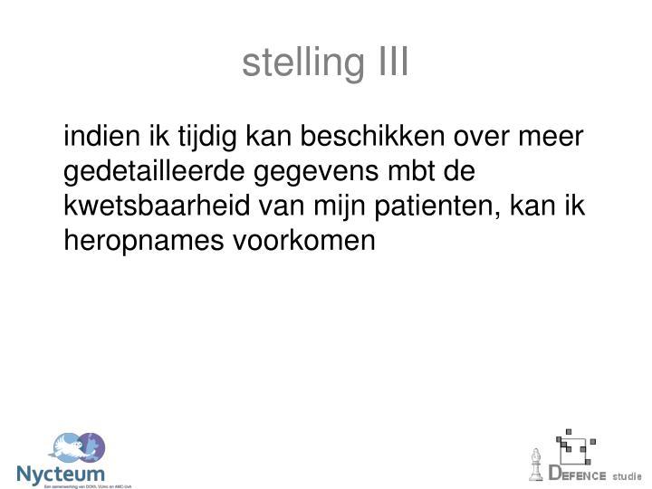 stelling III