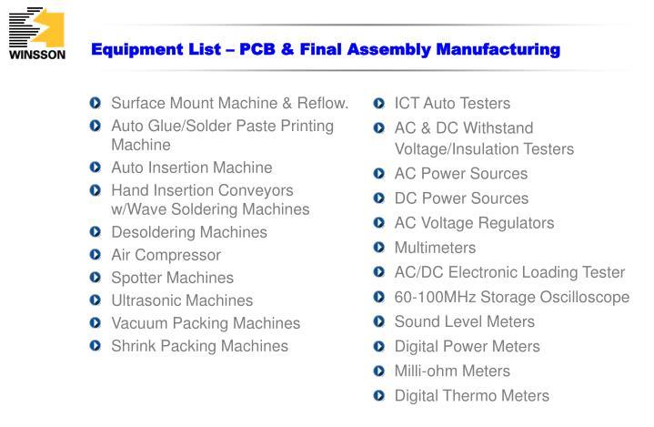 Surface Mount Machine & Reflow.
