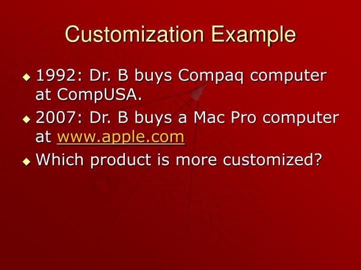 Customization Example