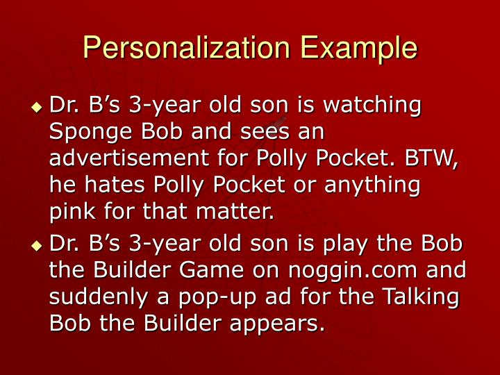 Personalization Example