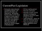 current past legislation