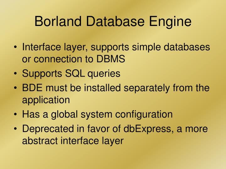 Borland Database Engine