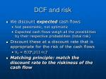 dcf and risk