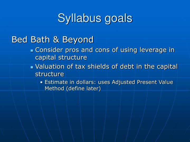 Syllabus goals