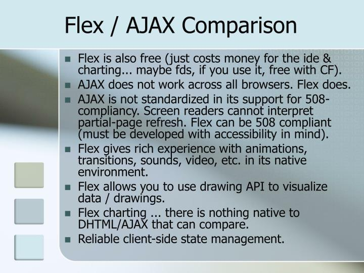 Flex / AJAX Comparison