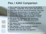 flex ajax comparison