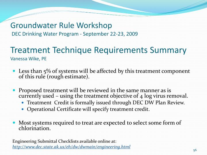 Groundwater Rule Workshop