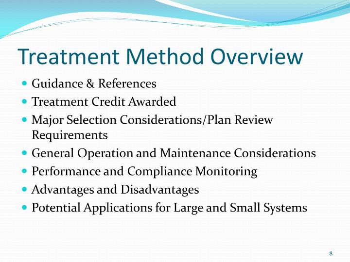 Treatment Method Overview