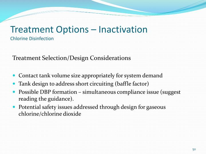 Treatment Options – Inactivation