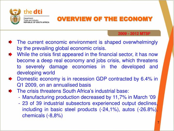 OVERVIEW OF THE ECONOMY