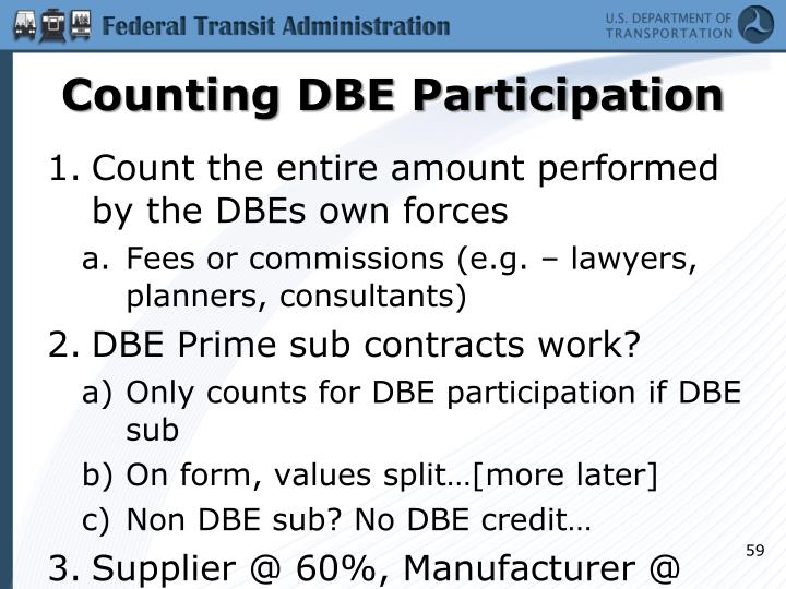 Counting DBE Participation