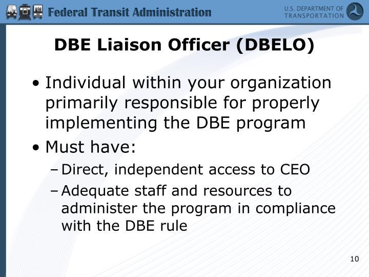 DBE Liaison Officer (DBELO)