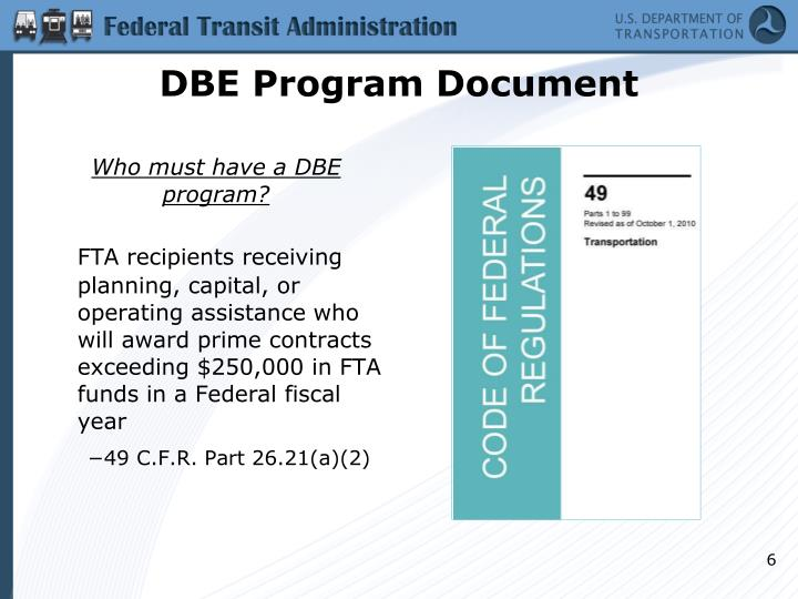 DBE Program Document