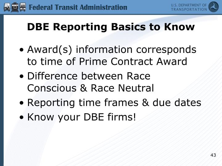 DBE Reporting Basics to Know
