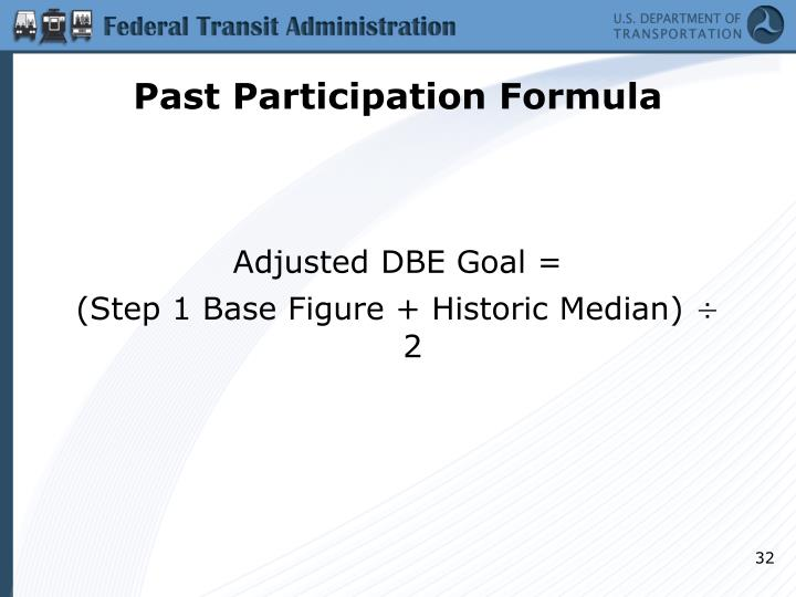 Past Participation Formula