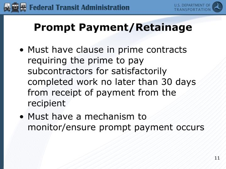 Prompt Payment/